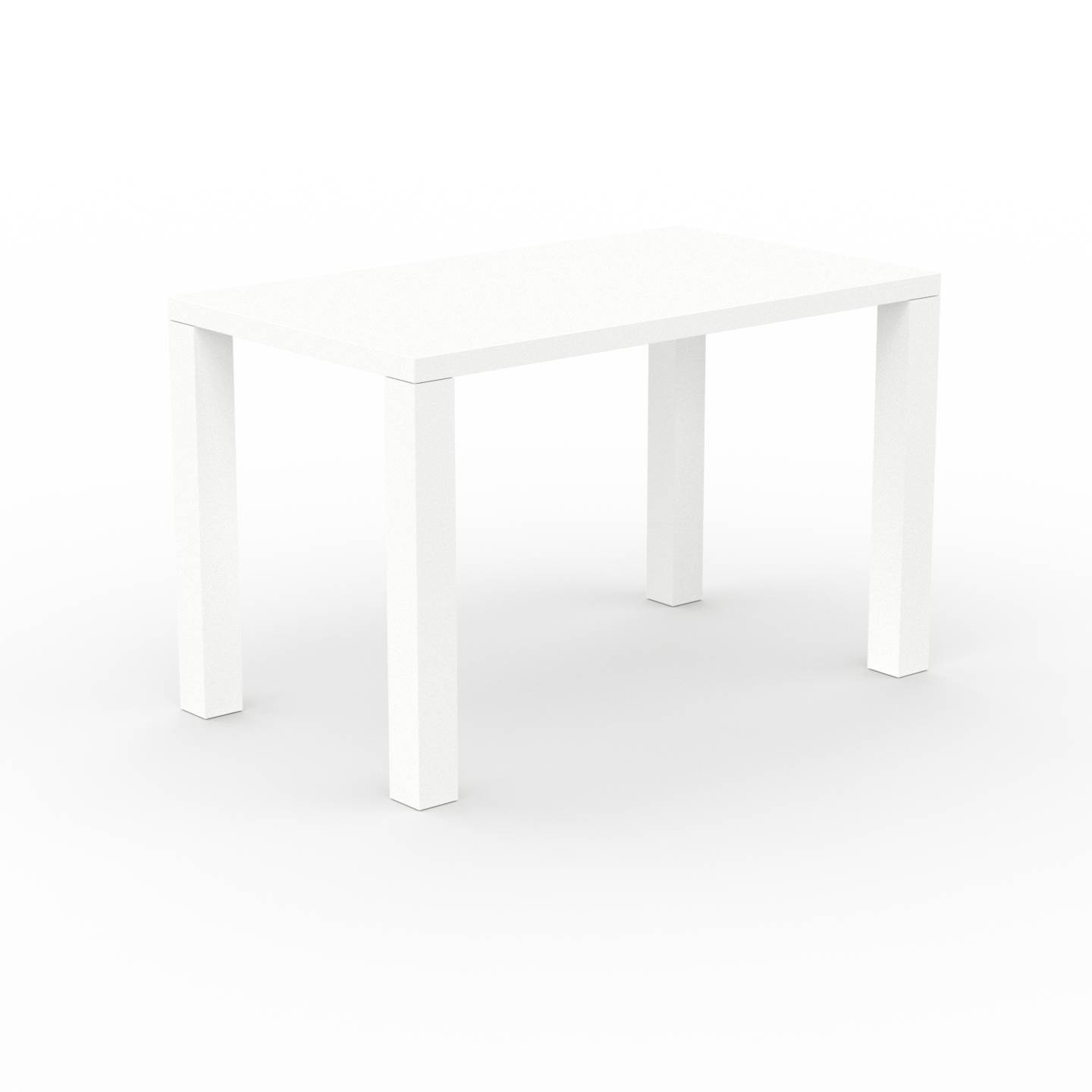 MYCS Bureau - Blanc, design contemporain, table de travail, fonctionnelle - 120 x 76 x 70 cm, modulable