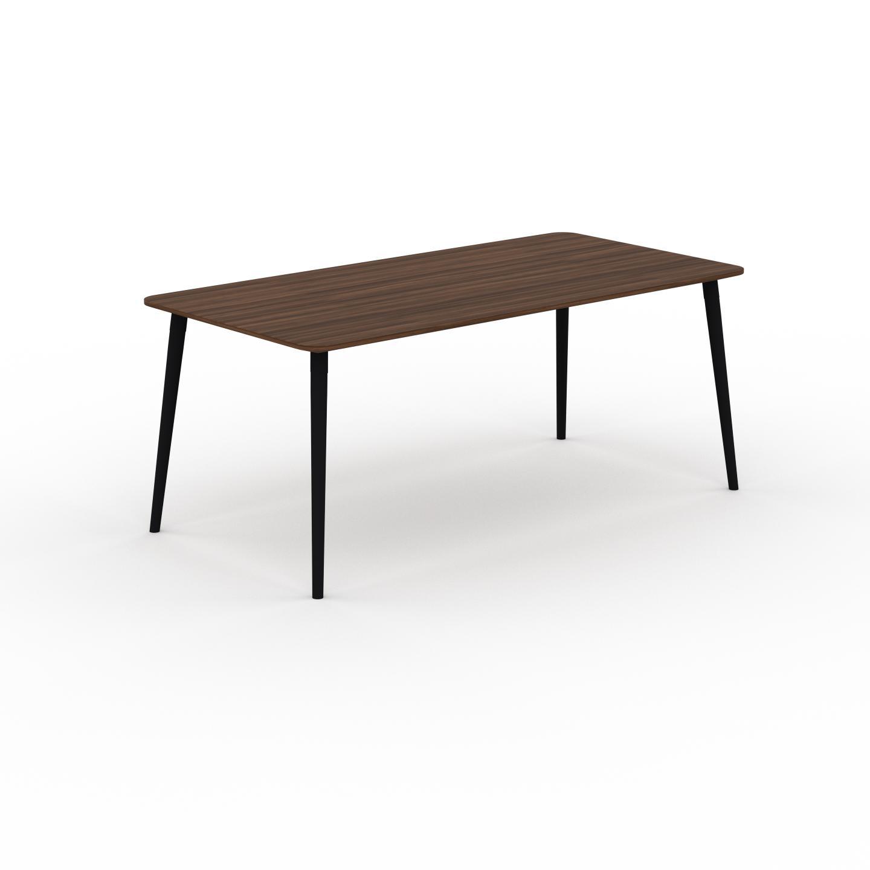 MYCS Table à manger - Noyer, design scandinave, pour salle à manger ou cuisine nordique - 180 x 75 x 90 cm, personnalisable
