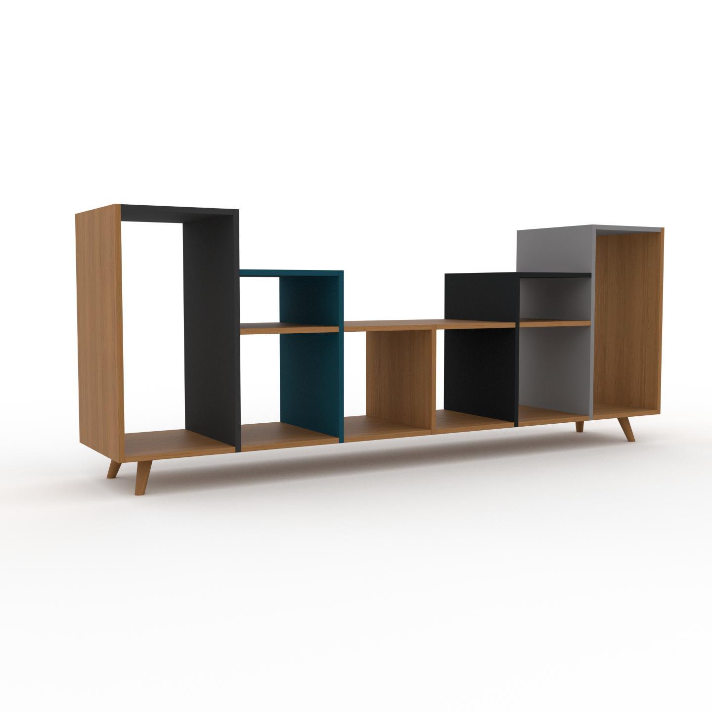 MYCS Range CD - Chêne, design contemporain, meuble pour vinyles, DVD - 233 x 91 x 47 cm, personnalisable