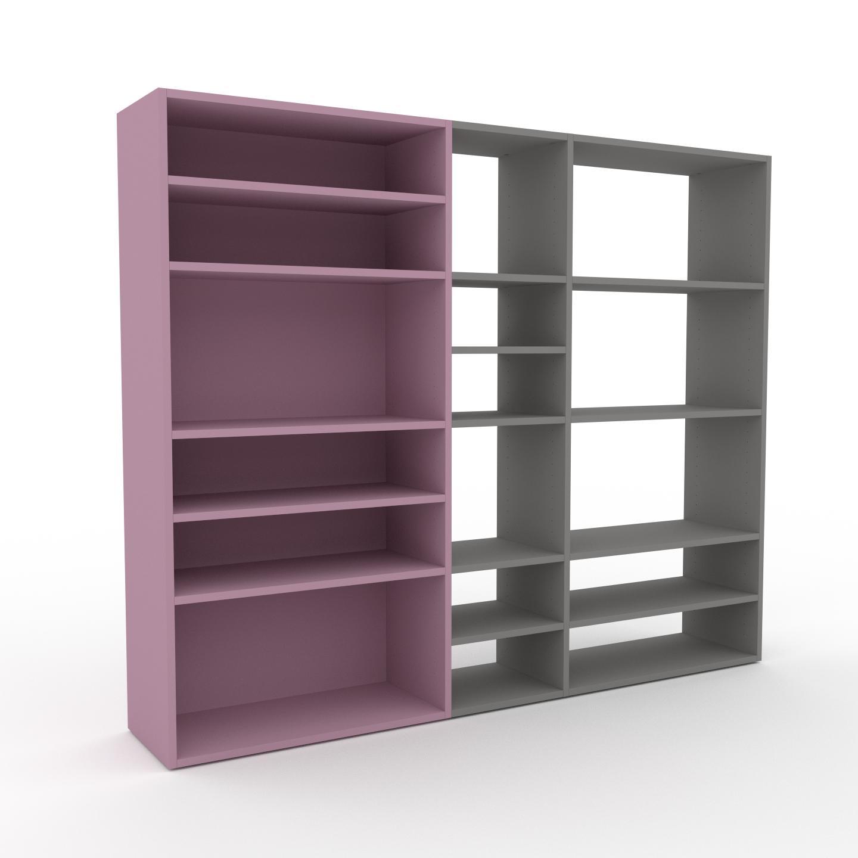 MYCS Bibliothèque - Rose poudré, design, étagère pour livres, sophistiquée, ouverte et fonctionelle - 190 x 157 x 35 cm, personnalisable