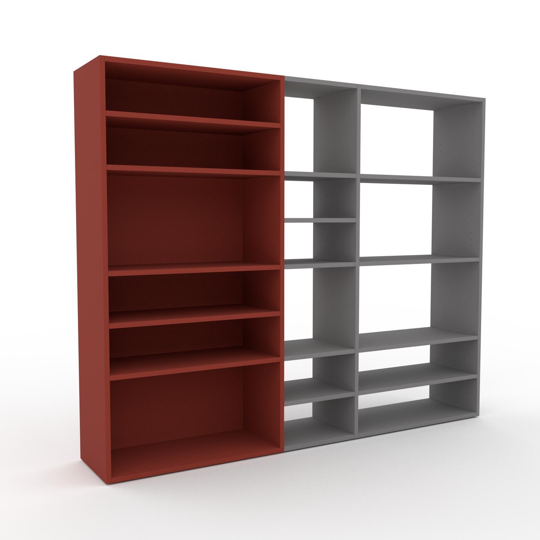 MYCS Bibliothèque - Terra cotta, design, étagère pour livres, sophistiquée, ouverte et fonctionelle - 190 x 157 x 35 cm, personnalisable