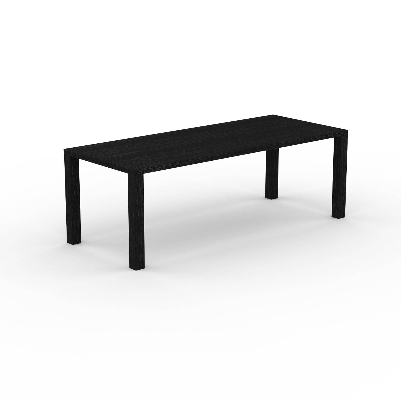 MYCS Table à manger - Wengé, design, pour salle à manger ou cuisine plateau de qualité - 220 x 76 x 90 cm, personnalisable
