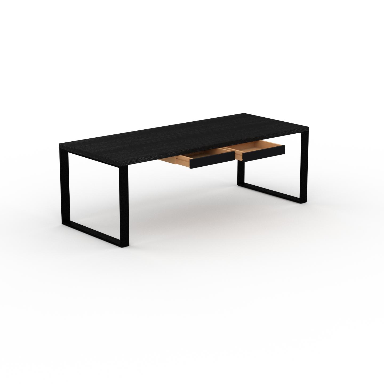 MYCS Bureau - Wengé, moderne, table de travail, avec tiroir Noir - 220 x 75 x 90 cm, modulable