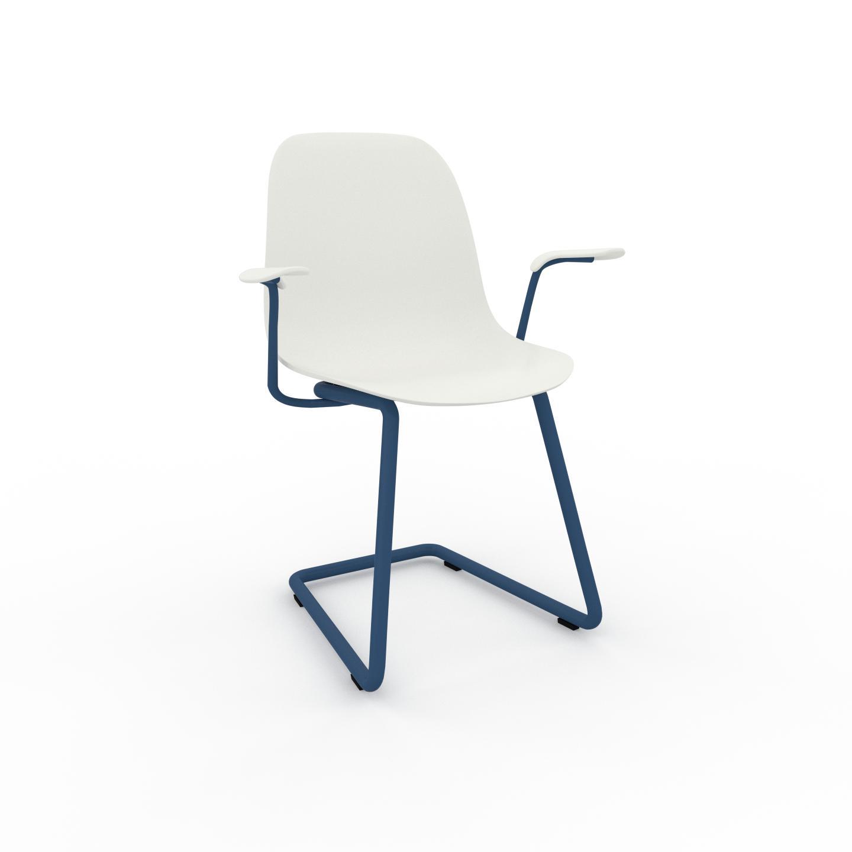 MYCS Chaise de salle à manger blanc de 49 x 82 x 62 cm au design unique, configurable