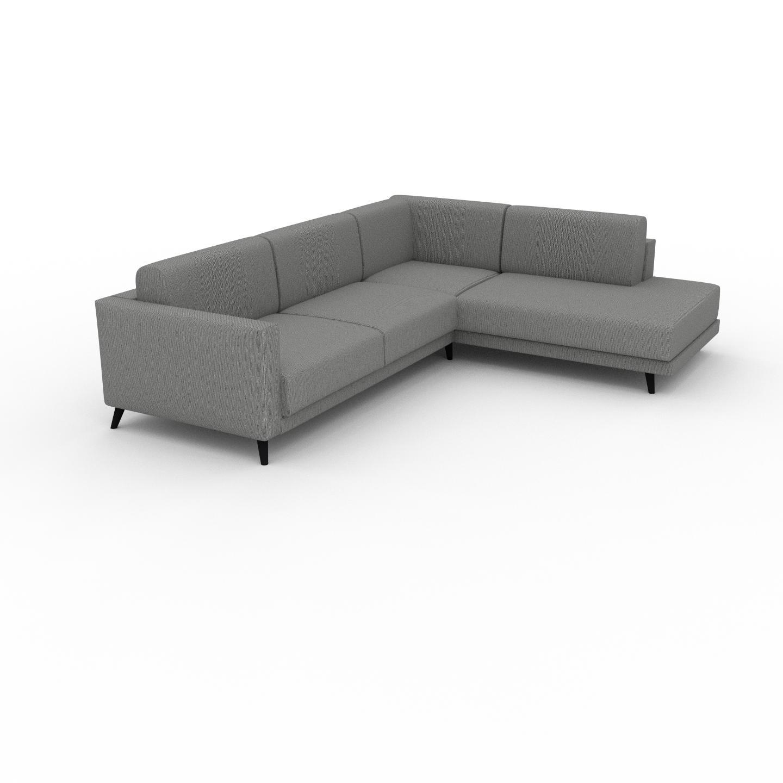 MYCS Canapé d'angle - Blanc Granite, design épuré, canapé en L ou angle, élégant avec méridienne ou coin - 214 x 75 x 267 cm, modulable