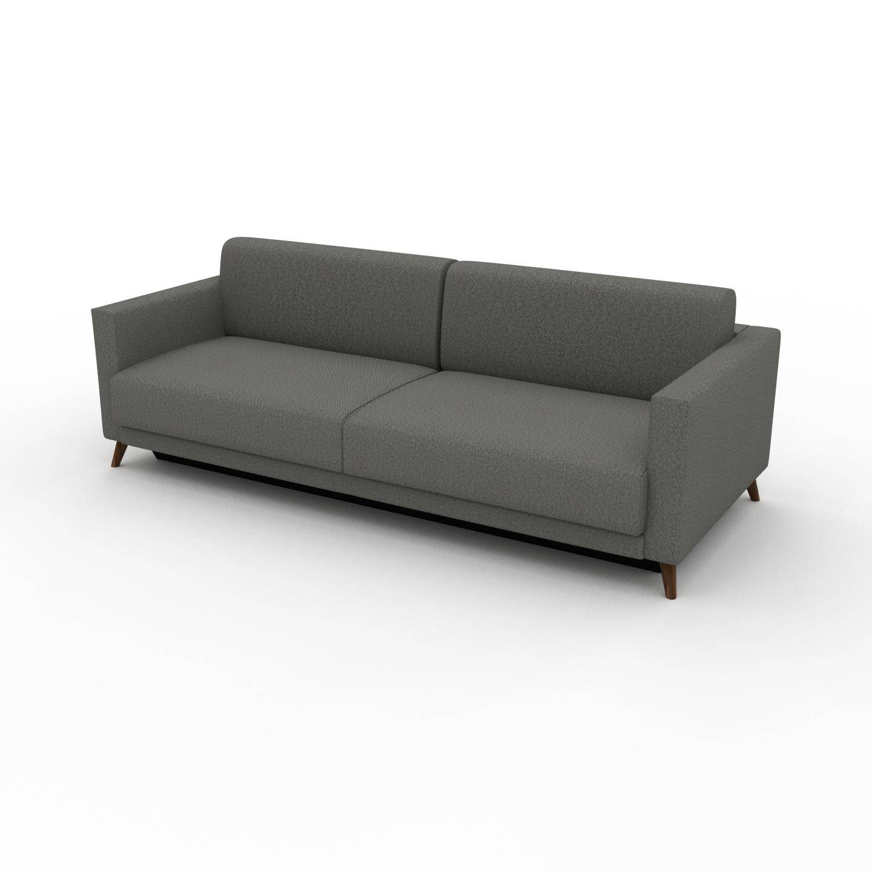 MYCS Canapé 3 places - Gris Gravier, modèle épuré, canapé pour trois personnes, sophistiqué - 225 x 75 x 98 cm, modulable