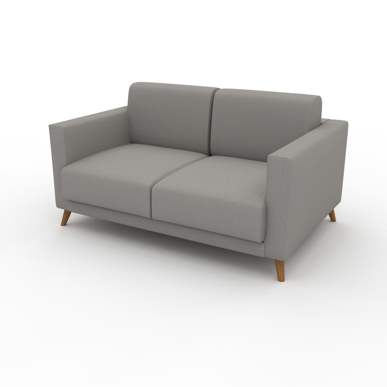 MYCS Canapé - Grège, modèle épuré, canapé pour salon, en tissu avec pieds personnalisables - 145 x 75 x 98 cm, modulable