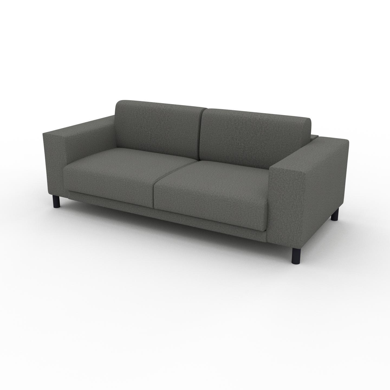 MYCS Canapé 2 places - Gris Gravier, design épuré, petit canapé deux personnes, élégant - 208 x 75 x 98 cm, modulable