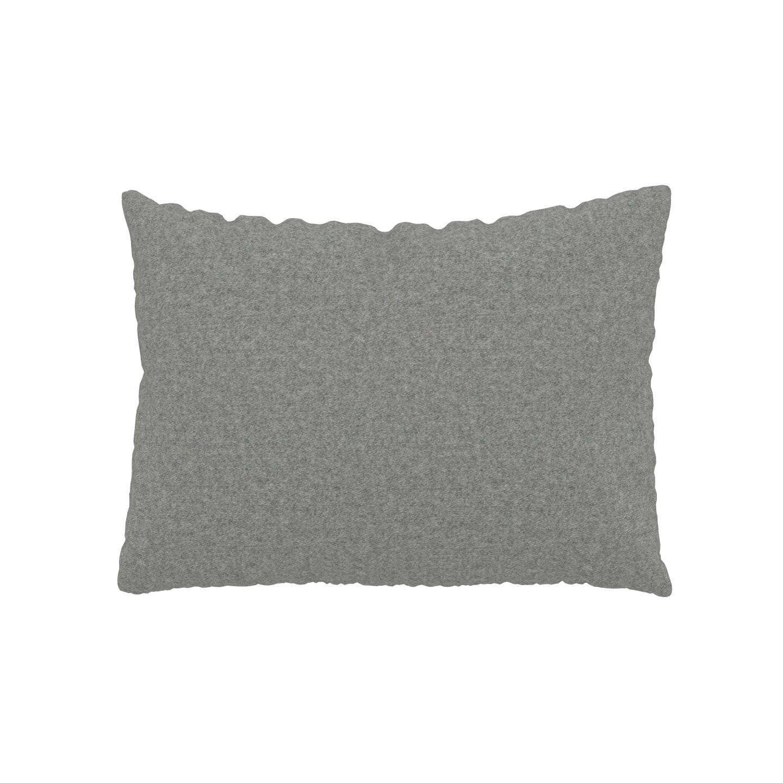 MYCS Coussin Gris Clair - 48x65 cm - Housse en Laine. Coussin de canapé moelleux