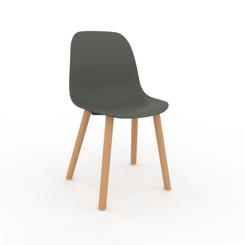 MYCS Chaise de salle à manger Vert de gris de 49 x 82 x 43 cm au design unique, configurable