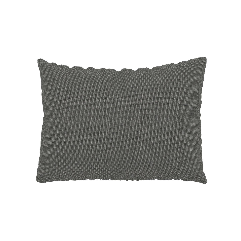 MYCS Coussin Gris Gravier - 48x65 cm - Housse en Tissu Fin. Coussin de canapé moelleux