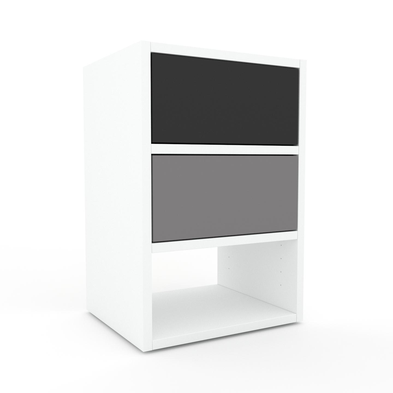 MYCS Table de chevet - Gris, contemporaine, table de nuit, avec tiroir Gris - 41 x 61 x 35 cm, modulable