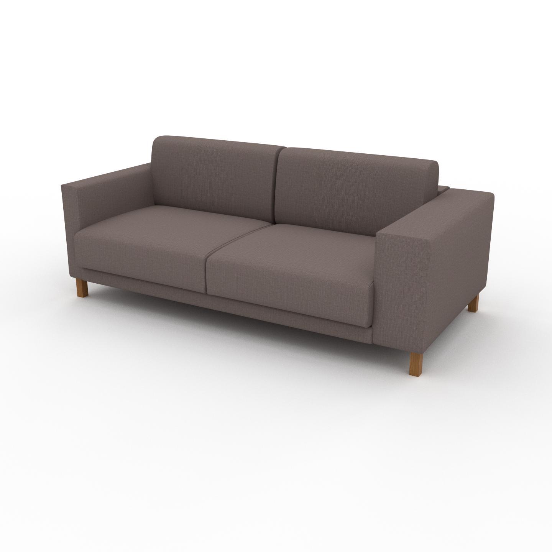 MYCS Canapé 2 places - Taupe Gris, design épuré, petit canapé deux personnes, élégant - 196 x 75 x 98 cm, modulable