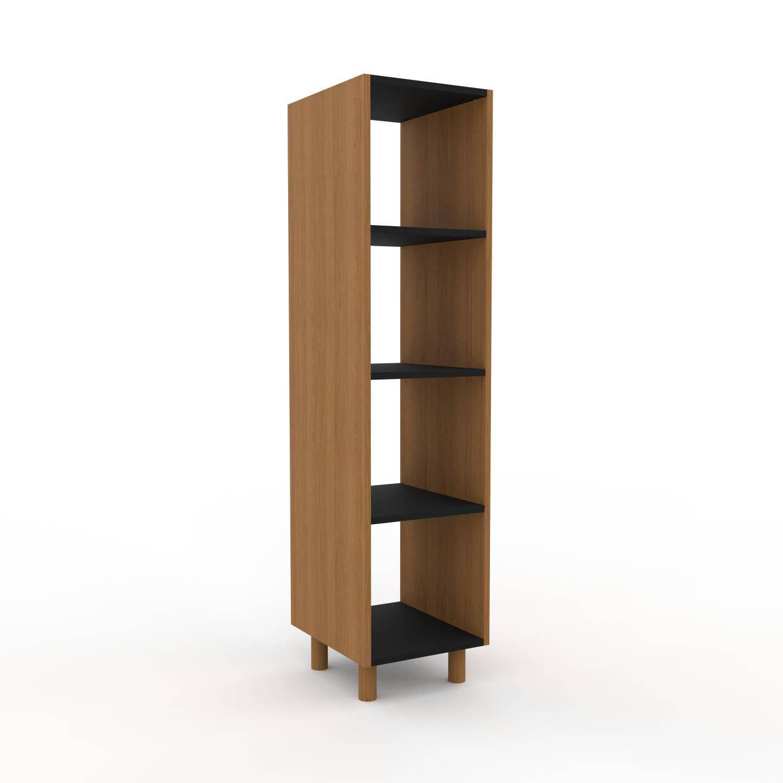 MYCS Range CD - Chêne, design contemporain, meuble pour vinyles, DVD - 41 x 168 x 47 cm, personnalisable