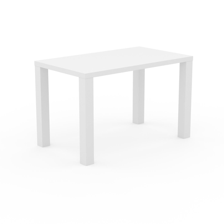 MYCS Bureau - Blanc, design contemporain, table de travail, fonctionnelle - 120 x 76 x 70 cm, modulable