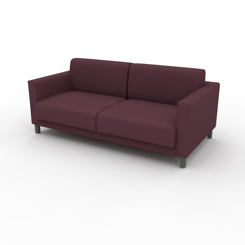 MYCS Canapé 2 places - Rouge Mûre, design épuré, petit canapé deux personnes, élégant - 184 x 75 x 98 cm, modulable