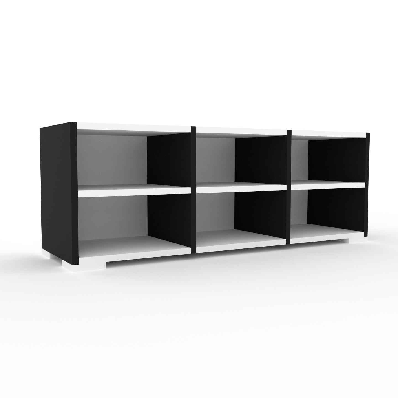 MYCS Buffet bas - Blanc, design, rangements bas - 118 x 43 x 35 cm, personnalisable