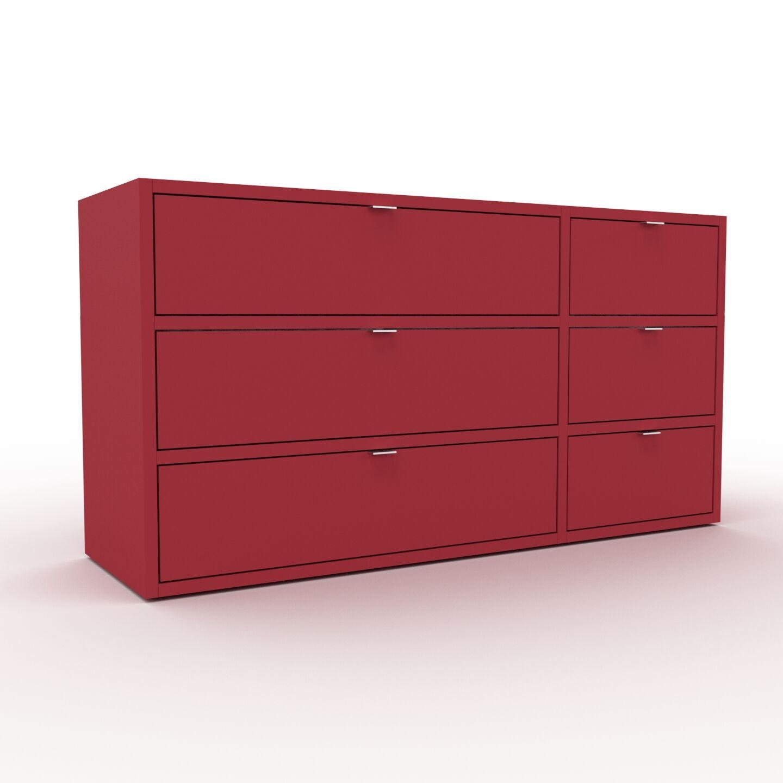 MYCS Enfilade - Rouge bordeaux, contemporaine, buffet, avec tiroir Rouge bordeaux - 116 x 61 x 35 cm, modulable