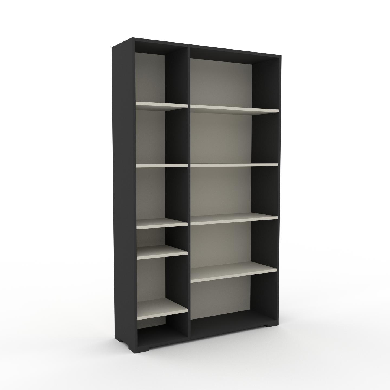 MYCS Étagère bureau - Taupe, design, cabinet de rangement de qualité, pour documents - 116 x 196 x 35 cm, personnalisable