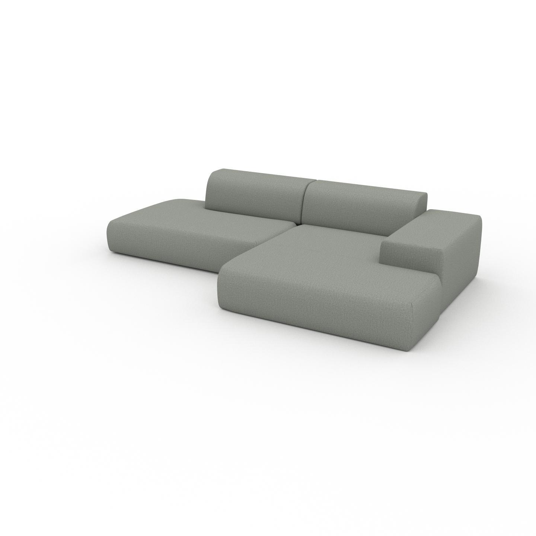 MYCS Canapé 2 places - Gris ardoise, design arrondi, petit canapé deux personnes, confortable - 310 x 72 x 168 cm, modulable