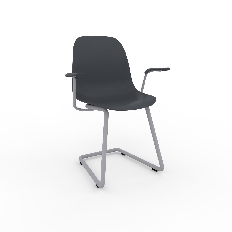 MYCS Chaise de salle à manger anthracite de 49 x 82 x 62 cm au design unique, configurable