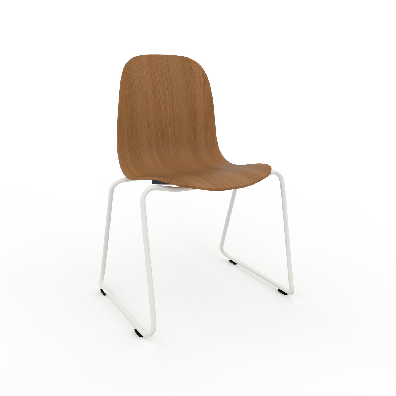 MYCS Chaise en bois Chêne de 49 x 83 x 58 cm au design unique, configurable