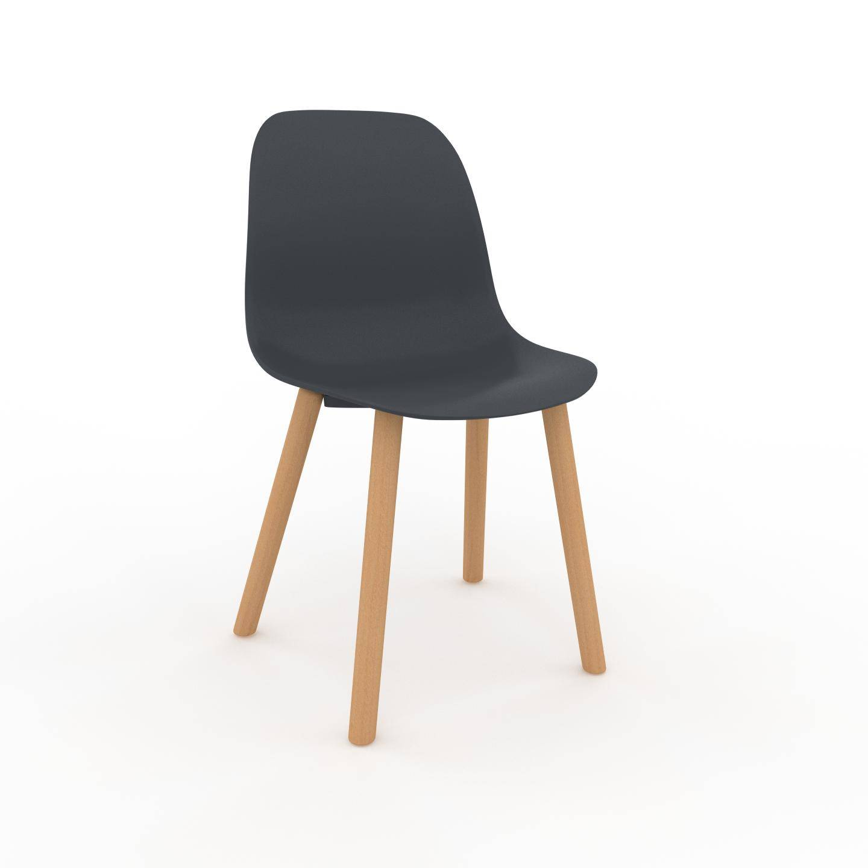 MYCS Chaise de salle à manger anthracite de 49 x 82 x 43 cm au design unique, configurable