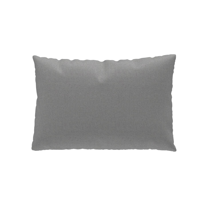 MYCS Coussin Gris ardoise - 40x60 cm - Housse en Tissu Fin. Coussin de canapé moelleux