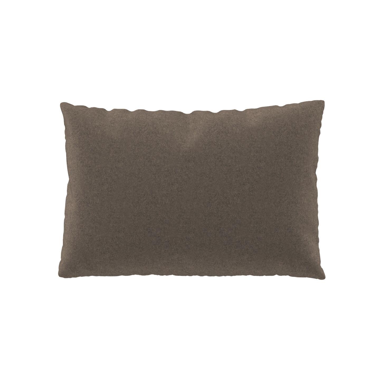 MYCS Coussin Brun Gris - 40x60 cm - Housse en Laine. Coussin de canapé moelleux
