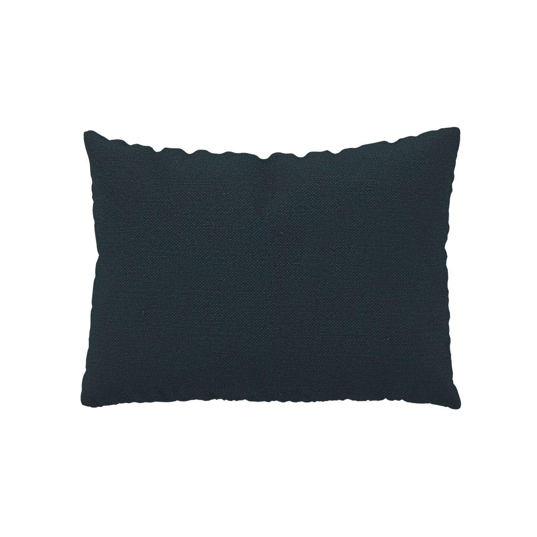 MYCS Coussin Bleu Nuit - 48x65 cm - Housse en Textile tissé. Coussin de canapé moelleux