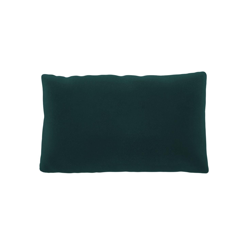 MYCS Coussin Vert Océan - 30x50 cm - Housse en Velours. Coussin de canapé moelleux