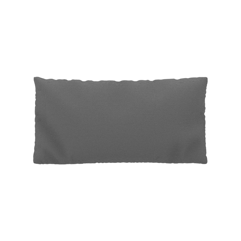 MYCS Coussin Blanc Granite - 40x80 cm - Housse en Tissu grossier. Coussin de canapé moelleux