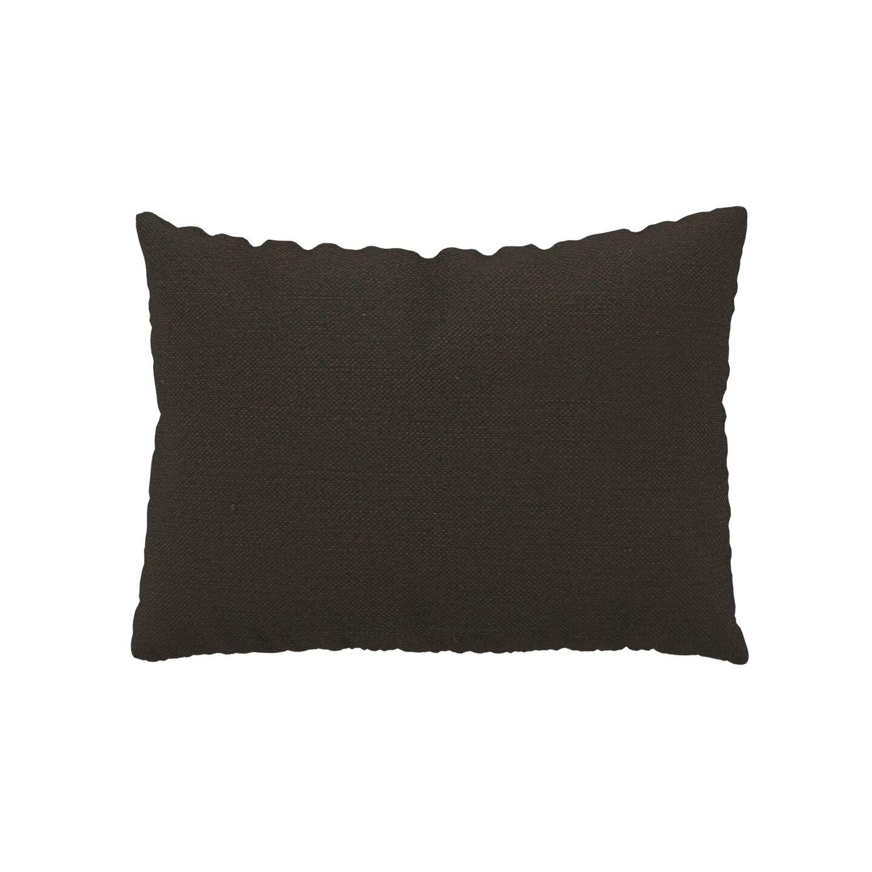 MYCS Coussin Brun Chocolat - 48x65 cm - Housse en Textile tissé. Coussin de canapé moelleux