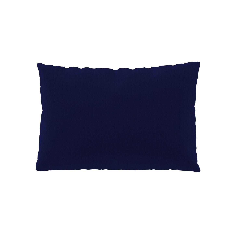 MYCS Coussin Bleu Encre - 40x60 cm - Housse en Laine. Coussin de canapé moelleux