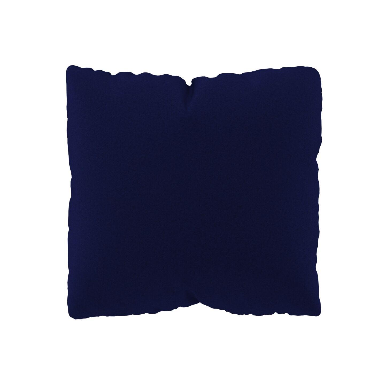 MYCS Coussin Bleu Encre - 40x40 cm - Housse en Laine. Coussin de canapé moelleux
