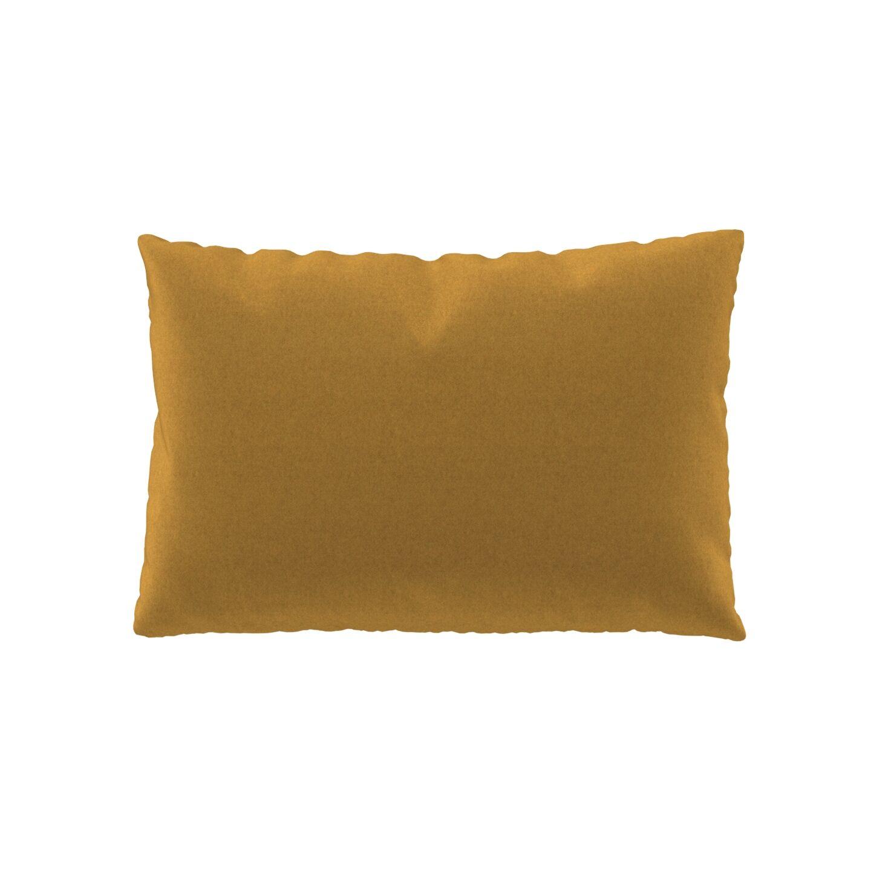MYCS Coussin Jaune Colza - 40x60 cm - Housse en Laine. Coussin de canapé moelleux