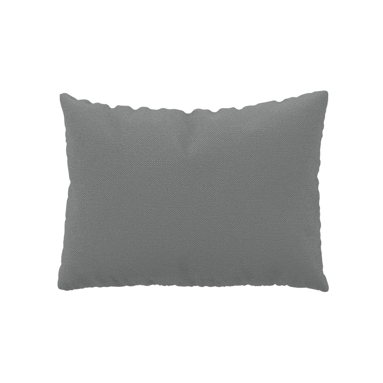 MYCS Coussin Grège - 48x65 cm - Housse en Textile tissé. Coussin de canapé moelleux