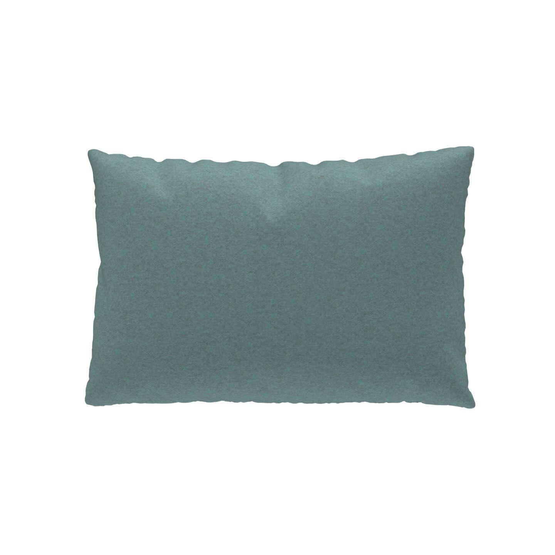 MYCS Coussin Bleu océan - 40x60 cm - Housse en Laine végane. Coussin de canapé moelleux