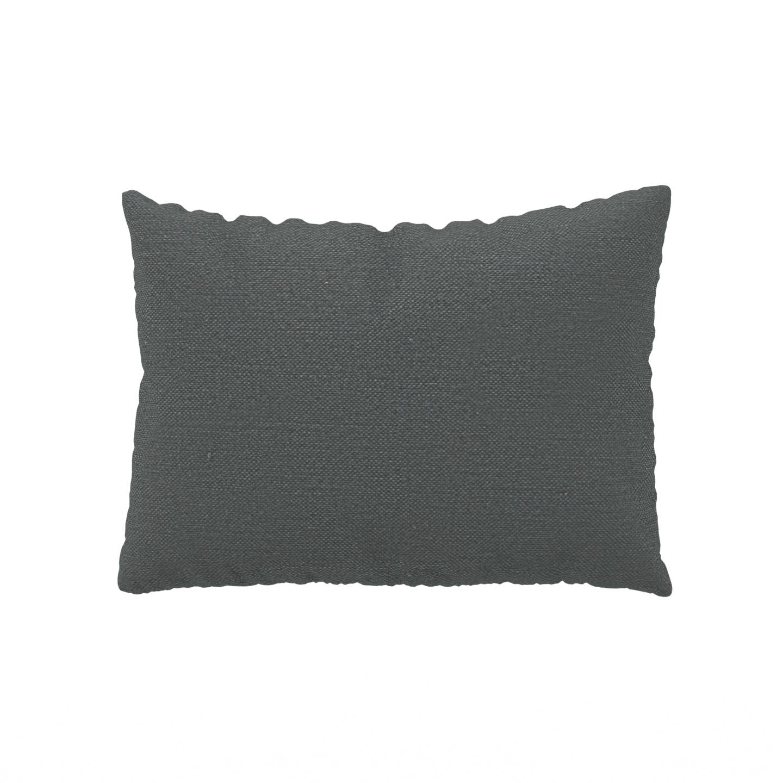MYCS Coussin Gris Pierre - 48x65 cm - Housse en Textile tissé. Coussin de canapé moelleux