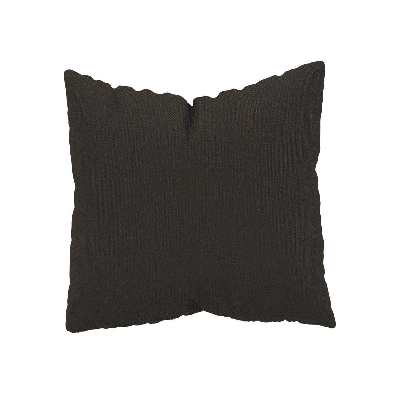 MYCS Coussin Brun Chocolat - 50x50 cm - Housse en Textile tissé. Coussin de canapé moelleux