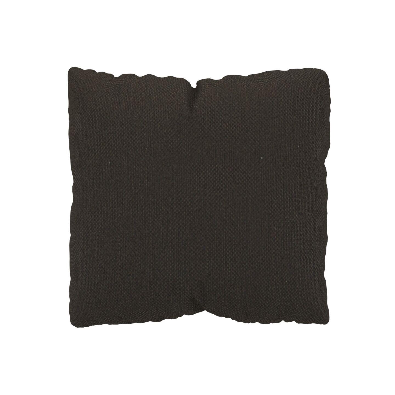 MYCS Coussin Brun Chocolat - 40x40 cm - Housse en Textile tissé. Coussin de canapé moelleux