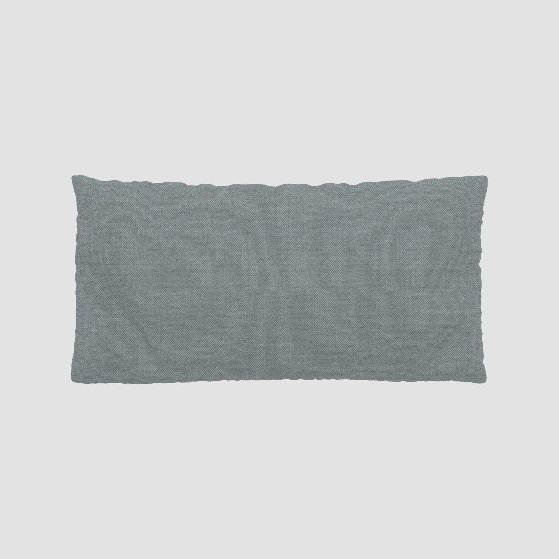 MYCS Coussin Bleu Pigeon - 40x80 cm - Housse en Textile tissé. Coussin de canapé moelleux