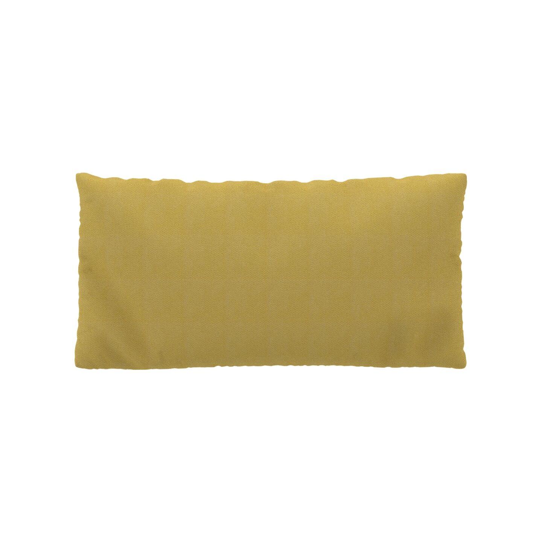 MYCS Coussin Jaune Moutarde - 40x80 cm - Housse en Tissu grossier. Coussin de canapé moelleux