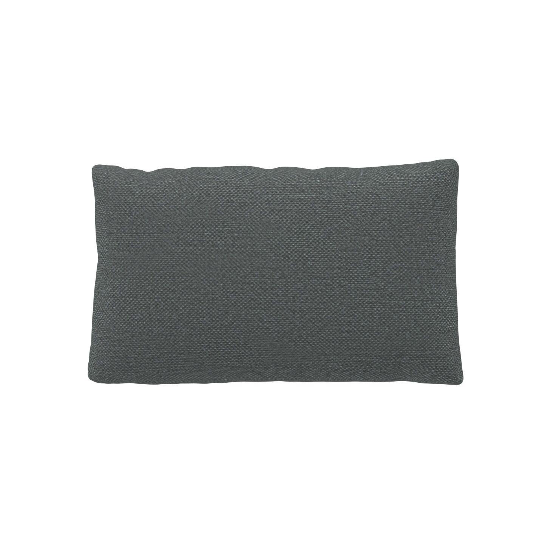 MYCS Coussin Gris Pierre - 30x50 cm - Housse en Textile tissé. Coussin de canapé moelleux