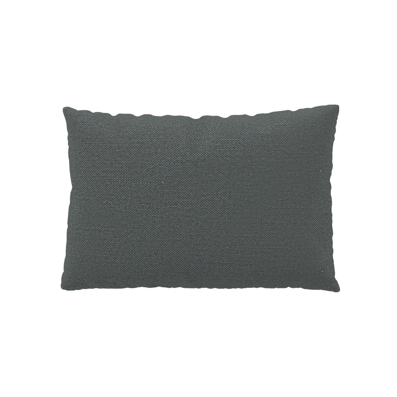 MYCS Coussin Gris Pierre - 40x60 cm - Housse en Textile tissé. Coussin de canapé moelleux