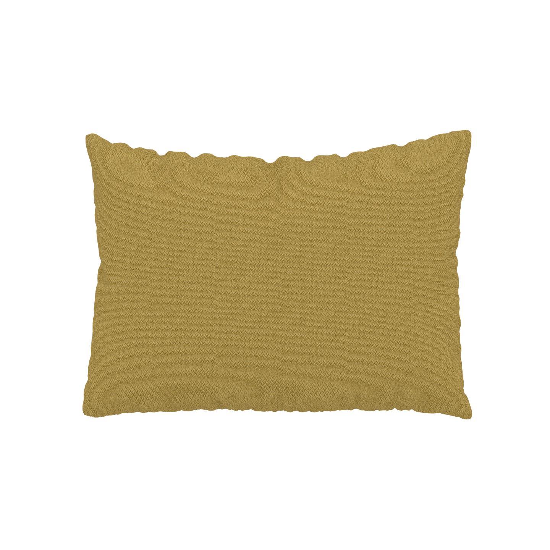 MYCS Coussin Jaune Moutarde - 48x65 cm - Housse en Tissu grossier. Coussin de canapé moelleux
