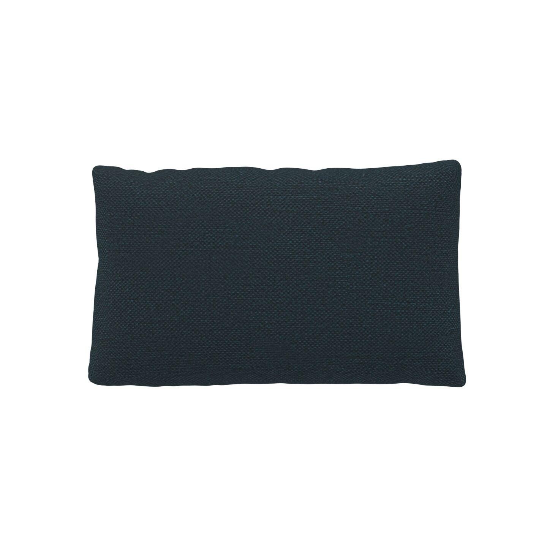 MYCS Coussin Bleu Nuit - 30x50 cm - Housse en Textile tissé. Coussin de canapé moelleux