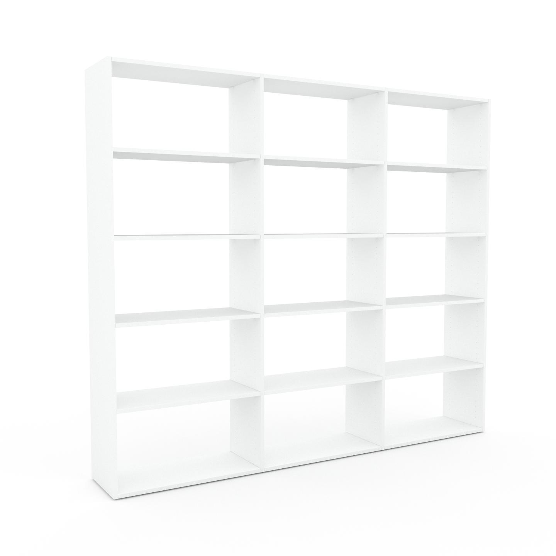 MYCS Bibliothèque - Blanc, design, étagère pour livres, sophistiquée, ouverte et fonctionelle - 226 x 195 x 35 cm, personnalisable