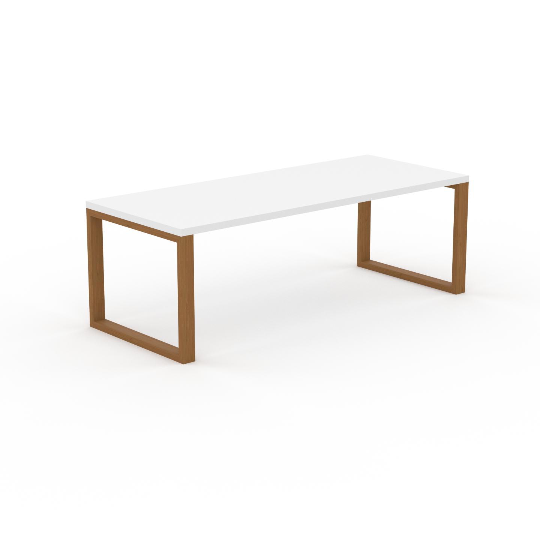 MYCS Bureau - Blanc, design contemporain, table de travail, fonctionnelle - 220 x 75 x 90 cm, modulable