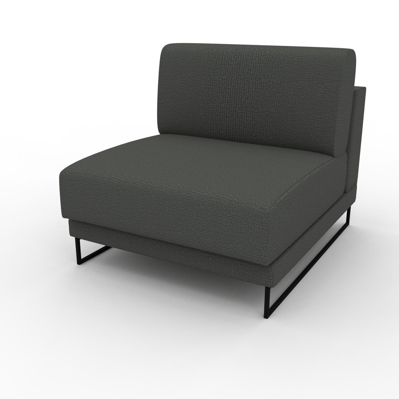 MYCS Fauteuil - Gris Pierre, modèle épuré, grand fauteuil en tissu avec pieds personnalisables - 80 x 75 x 98 cm, modulable